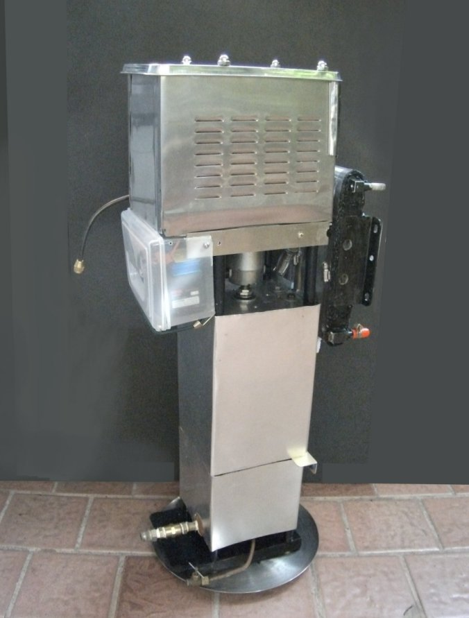 Water distiller/heater/generator operated by small 4 cylinder steam ...
